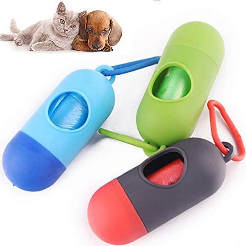 jingming Hundekotbeutel Biologisch,Tragbare Kunststoff hängende Wickeltasche Box Baby Müll Müllsack Aufbewahrungskoffer Blau