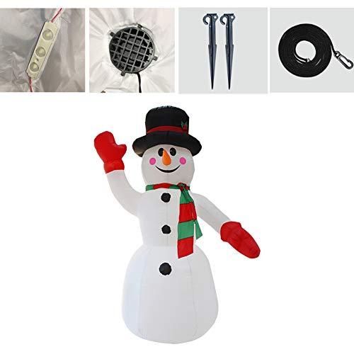 Fayeille - Pupazzo di neve gonfiabile, 8 piedi con luci a LED Blow Up Accessori per decorazione di pupazzo di neve, set completo per la festa di Natale per interni ed esterni