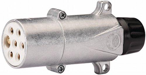 HELLA 8JA 003 832-011 Stecker - 24V - 7-polig - Stecker: Flachstecker - Metall - DIN/ISO: 3731