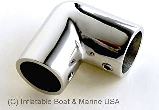 Boat Hand Rail Fitting - 30-60 - 90 Degree 7/8 Inch Rectangular Base Tee Elbow Marine 316 Stainless Steel (90 Degree Elbow)