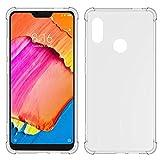 TIYA for MI Xiaomi Redmi Note 6 Pro Case Clear TPU Four Corners Cover Transparent Soft funda