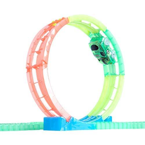 Magic Tracks Looping | Rennbahn Kinder 3 Jahre | Auto Zubehör für Autorennbahn | Leuchtendes Autorennbahn Spielzeug | Looping Bahn Auto