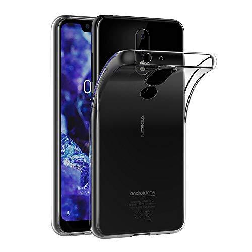 AICEK Hülle Compatible für Nokia 5.1 Plus Transparent Silikon Schutzhülle für Nokia 5.1 Plus Case Clear Durchsichtige TPU Bumper Nokia 5.1 Plus Handyhülle (5,86 Zoll)