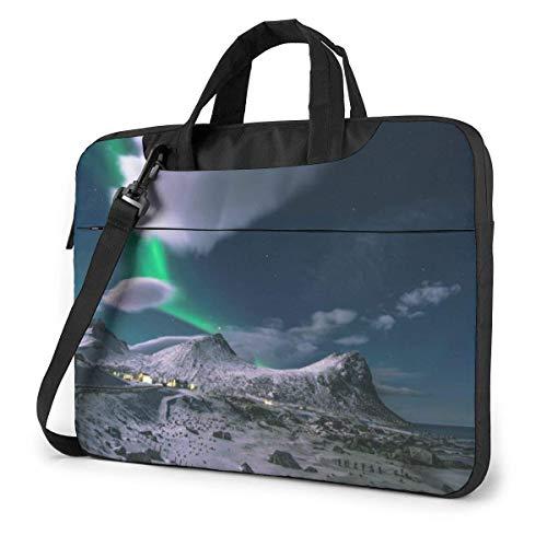 Laptop Shoulder Bag Carrying Laptop Case, Aurora Glacier Computer Sleeve Cover, Business Briefcase Protective Bag