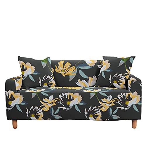 Sofá Elástico Grande con Diseño Floral Pequeño con Cobertura Completa Cojín De Sofá De Cubierta Completa para El Hogar Tela De Cubierta Completa Adecuada para La Sala De Estar Y El Dormitorio