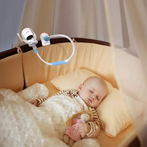 MYPIN Baby Monitor Halterung mit Gurten, Flexibler Kamera Halterung Baby Kamerahalterung Regal Kein Bohren Sicherer Monitorständer, Kompatibel mit den Meisten Babyphone - 5