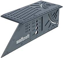 Wolfcraft 3D-verstekhoek I 5208000 I voor het bewerken van driedimensionale werkstukken I aanslagen voor 45°- en 90°...