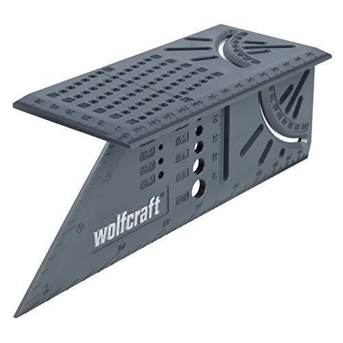 Wolfcraft 5208000 Squadra Tridimensionale, Grigio, 212 x 62 x 74 mm
