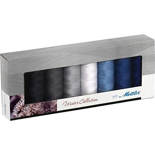 Mettler SERALON Winter-Kit 8er Nähgarn-Set: Universalgarn Zum Nähen oder Sticken - 100% Polyester – SE8 Winter-Kit - 8 x 200 m, winterfarben