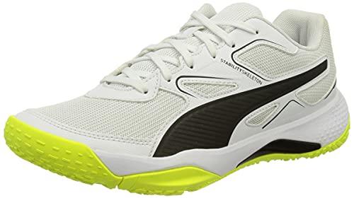 Puma Solarflash, Zapatillas de Balonmano Unisex Adulto, White Black-Y, 40 EU