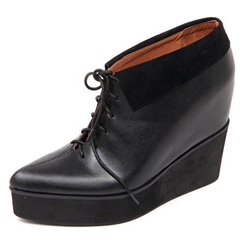 Jeffrey Campbell D2218 Tronchetto Donna Abernathy Scarpe Nero Shoe Boot Woman [38]