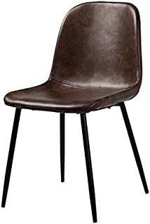 Norwich Distressed Brown Leather Dining Side Chair