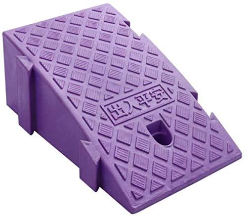 Rampa Ramps triángulo para silla de ruedas, patineta para niños enrolla en carretera patio patio silla de ruedas (Color : Purple)