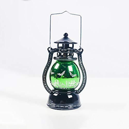 SWTHXY Finta Candela con Fiamma Candela luci Zucca Notte lampade LED Candele Tea Light portacandela di Halloween, per Halloween Decorazione Parte simulato Fiamma Luce Lampada a Olio