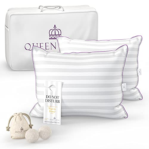 Luxury Hotel Pillows 2 Pack -Majesty Synthetic Down - Allergy Free Hypoallergenic...