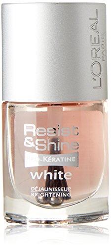 L 'Oréal Paris Resist & Shine Pro-Kératine nagellak, nagelwitter tegen verkleuring, 9 ml