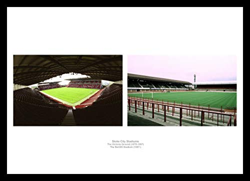 Home of Legends Stoke City Stadiums Old and New Framed Photo Memorabilia