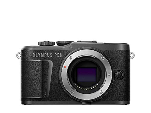Olympus PEN E-PL10 Micro Four Thirds System Kamera, 16 Megapixel, Bildstabilisierung im Gehäuse, Schwenkbarer Monitor, 4K Video, Wi-Fi, 16 Art Filter, Touch AF Auslöser, 9 erweiterte Fotomodi, Schwarz