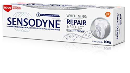Creme Dental Rapair & Protect Whitening para Dentes Sensíveis, Sensodyne, 100g, Branco