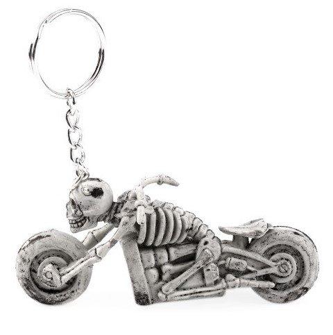 Familienkalender Skelett sitzt auf Motorrad Skelettmotorrad