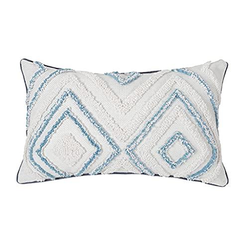 Exing Fundas de cojín, funda de almohada de estilo popular nórdico, 1 pieza, funda de almohada nórdica para cama y desayuno, 1 funda de almohada creativa para sofá, dormitorio, coche