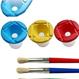 4PCS Paint Brush+1PC Washing Bucket For Children Kids Watercolor Oil Gouache Acrylic Painting Bristle Brushes Art Supply,Cup Ramdom 1 PC
