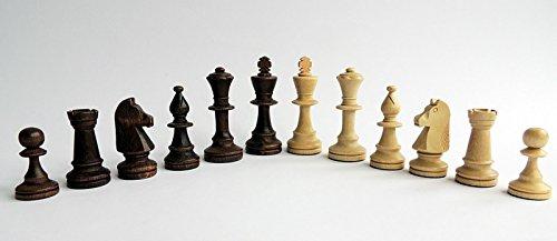 Classic Staunton (n. ° 5 y 6) Figuras de ajedrez ponderadas de Madera Profesionales, Piezas de ajedrez (n. ° 6)