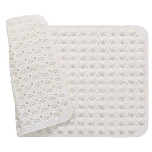 PRXD Extra lange badmatten antislip badmat anti-bacteriële douchematten, superieure grip en afvoer (16 W x 39 L inch)