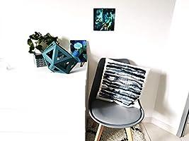 Grande lampe Origami bleu canard - Leewalia - lampe design - lampe d'appoint - liseuse
