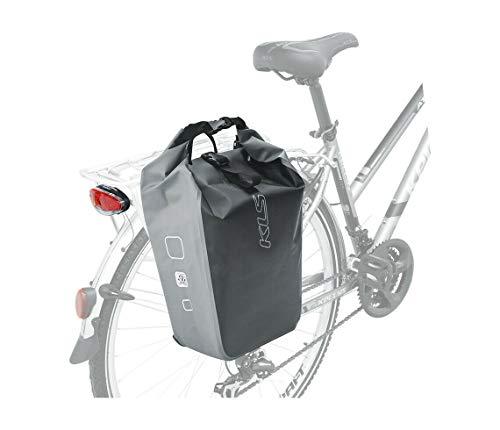 Kellys Fahrrad Gepäckträgertasche hinten Grau 18 L Wasserdicht Laptopfach Bike