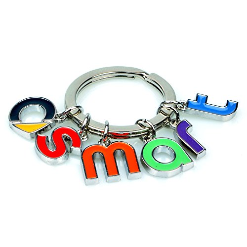 RACEFOXX Schlüsselanhänger, Anhänger, Schlüssel, Autoschlüssel, Buchstaben, für SMART Fahrer