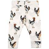 MilkBarn Organic Cotton Baby Leggings (Chicken, 6-12 Months)