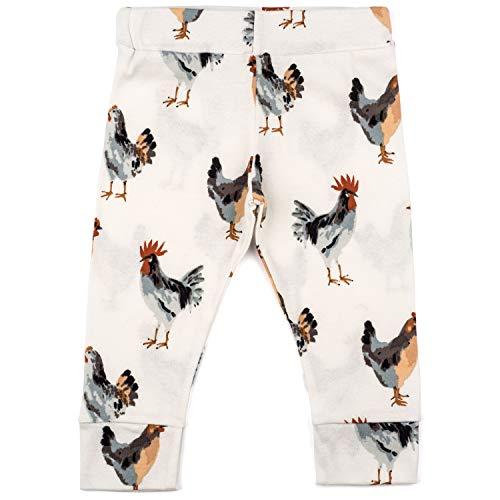 MilkBarn Organic Cotton Baby Leggings (Chicken, 3-6 Months)