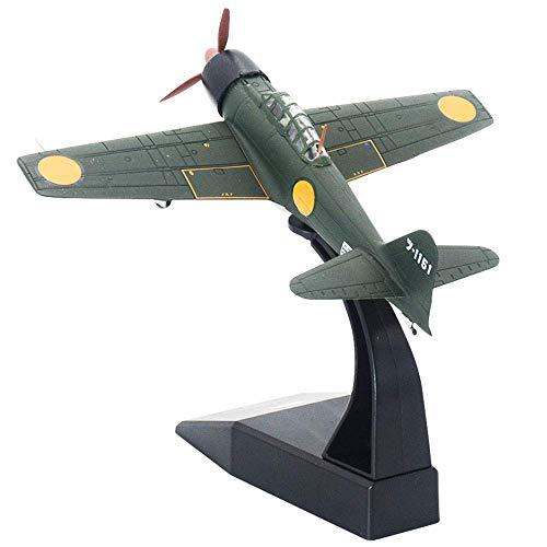 XIUYU Caccia Militare Modello, 1/72 Scala Seconda Guerra Mondiale Zero Fighter Modello del Metallo, Edizione del collettore, 4.9Inchx6.1Inch