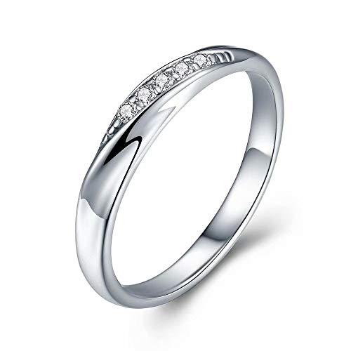JUDYの秘密<愛の言葉>スワロフスキージルコニア 純銀製指輪 高級感 レディースリング キラキラ 結婚指輪 婚約指輪 専用ボックスつき (10号レディース1枚)
