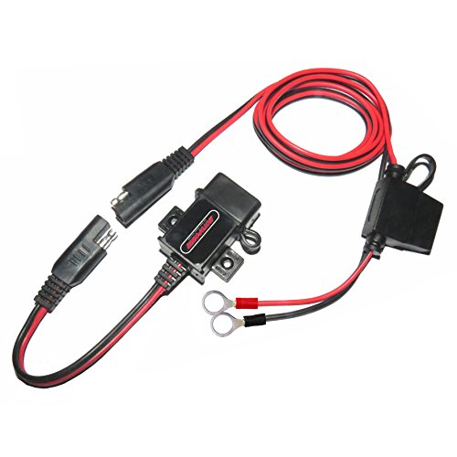 MOTOPOWER MP0609A 3.1Amp Motorcycle USB Charger Kit SAE to USB Adapter Phone GPS Charge On Motorcycle