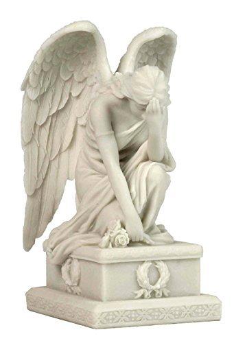 Weeping Angel kniend W/Hand auf Stirn Statue Skulptur Figur
