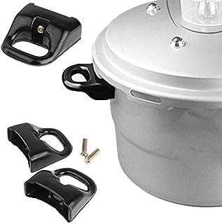 YOOJIA 2Pcs Pot Handles Metal Pressure Short Side Handle Sauce Pot Handle Grip Steamer Pot Holder Replacement for Home Kit...