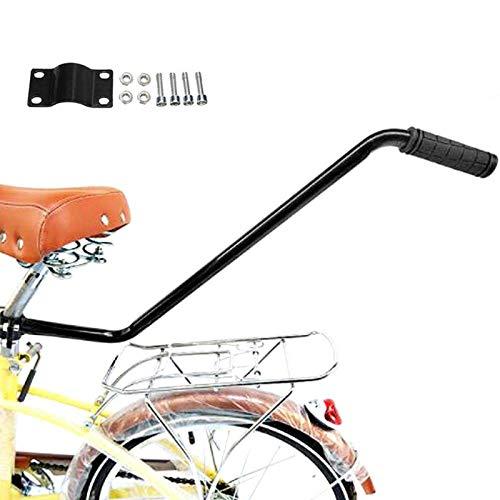 Dream-cool Universelle Schubstange FüR Kinderfahrrad Lernhilfe Schiebestange Haltestange Rutschfester Sicherheitsgriff Fahrradstange Kinder Schwarz 70cm
