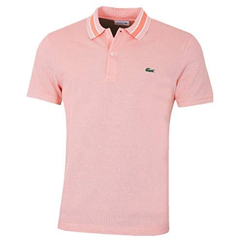 Lacoste PH4251 Herren Polo Shirt Kurzarm,Männer Polo-Hemd,2 Knopf,Slim Fit,Dianthus/Flour(77R),Medium (4)