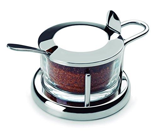 Lacor - 62971 - Recipiente De Cristal Para ParMesano Con cuchara Inox. Sin Base