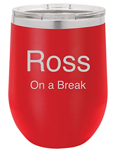 Personalized 12 ounce Double wall vacuum insulated wine tumbler (Red)