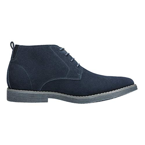 Bruno Marc Men's Chukka Navy Suede Leather Chukka Desert Oxford Ankle Boots – 6.5 M US