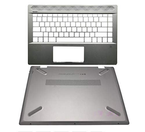HuiHan Replacement for HP Pavilion 14-CE Series TPN-Q207 Palmrest Upper Shell & Bottom Case