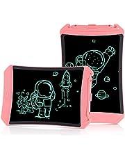 KOKODI Lcd-bureau-tablet, digitaal bureau, kleurrijk, 20,3 cm (8,5 inch), tekentafel, speelgoed voor meisjes, verjaardagscadeau voor kinderen van 3 tot 6 jaar (roze)