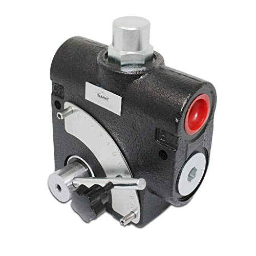 """Hydraulic Adjustable Variable Flow Control Valve w/Relief, 0-16 GPM, 1/2"""" NPT"""