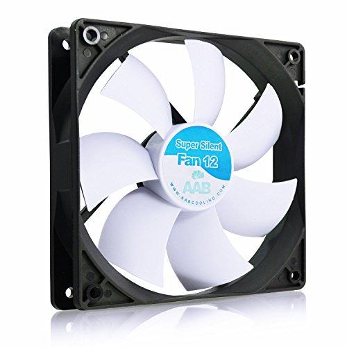 AABCOOLING Super Silent Fan 12 - Una Silenziosa e Molto Efficiente 120mm Ventola per Case PC, PC Portatile, Ventilatore 12V, Raffreddamento PC, 12cm, 3 Pin Ventola Aspirazione 13,9 Db(A)