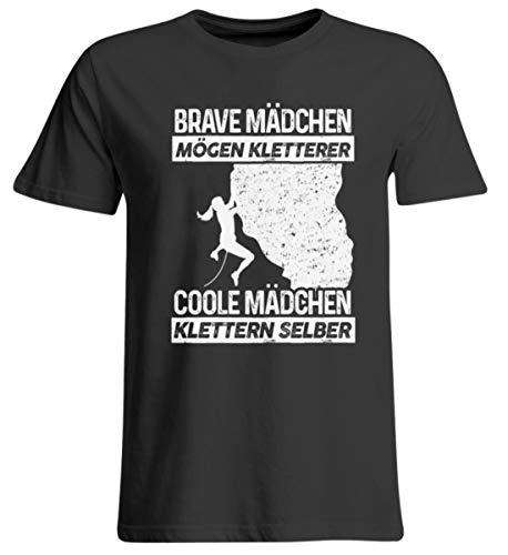 shirt-o-magic Klettern: Coole Mädchen Klettern - Übergrößenshirt -4XL-Tief Schwarz