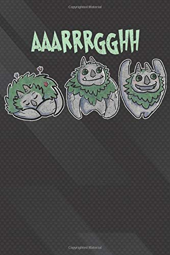 Aaarrrgghh: Troll Hunters Notebook, Journal for Writing, Size 6