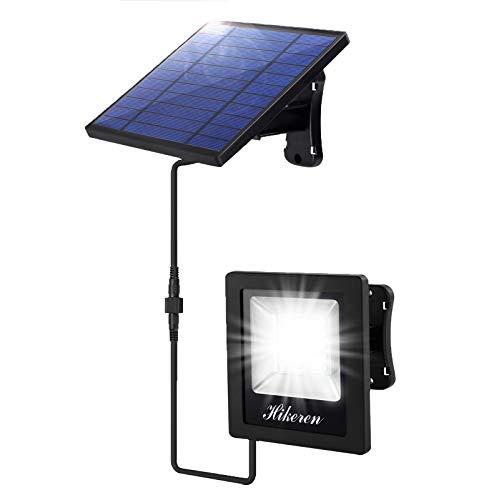 Luz Solar Exterior,Hikeren Lámpara Solar al aire libre,Cable de 5 m,Batería de Gran Capacidad de 4400 mAh,El ahorro de energía,IP65 a Prueba de Agua,Para Jardín,Puerta Principal,Garaje,Techo,etc